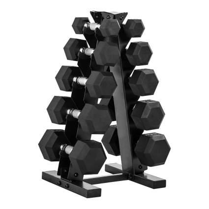 CAP Barbell 150-Pound Set & A-Frame Rack