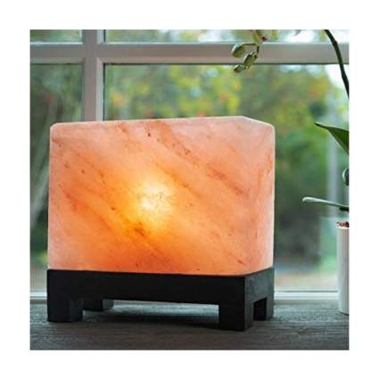 carved rectangle himalayan salt lamp