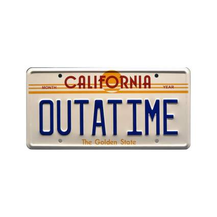 celebrity machines outatime back to the future license plate