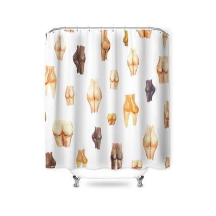 ChicSoleil Butt Printed Shower Curtain