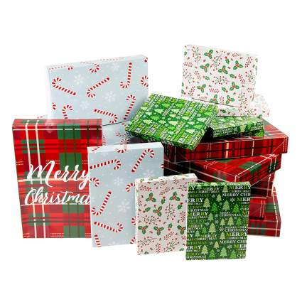 24 pack of assorted christmas gift boxes