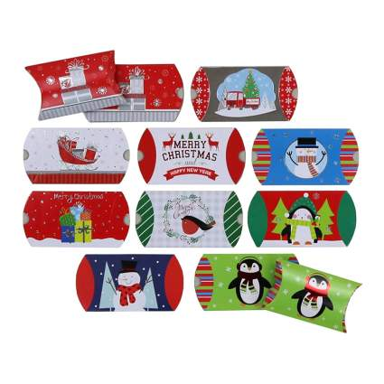 christmas gift card pillow boxes