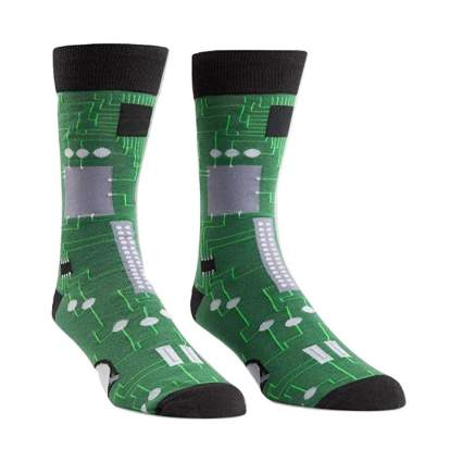 Circuit Board Mens Crew Socks