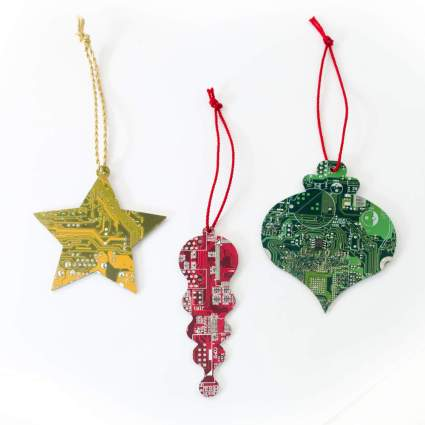 Ornaments made from circuit boards