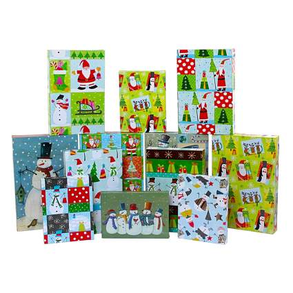 colorful printed christmas gift boxes