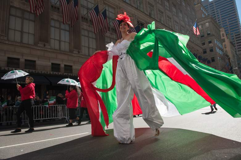 A particpant in the 2016 NYC Columbus Day parade