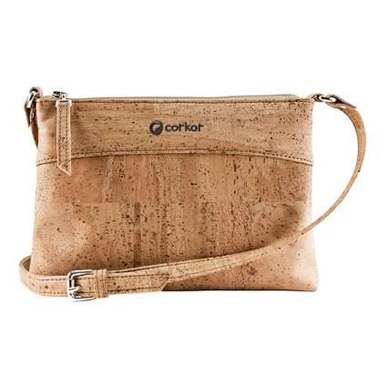 tan cork crossbody bag