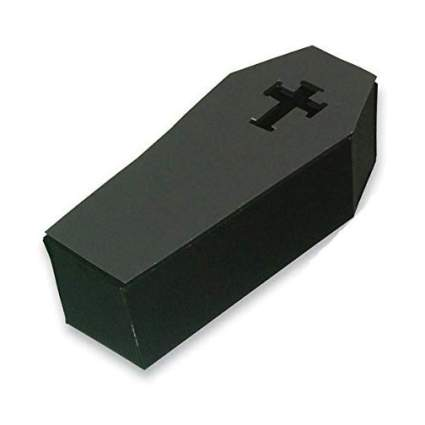 Black coffin gift box