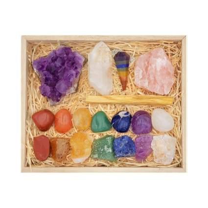 Deluxe Healing Crystals Gift Set