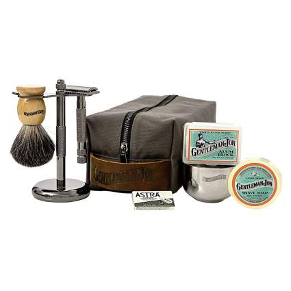 deluxe wet shave kit