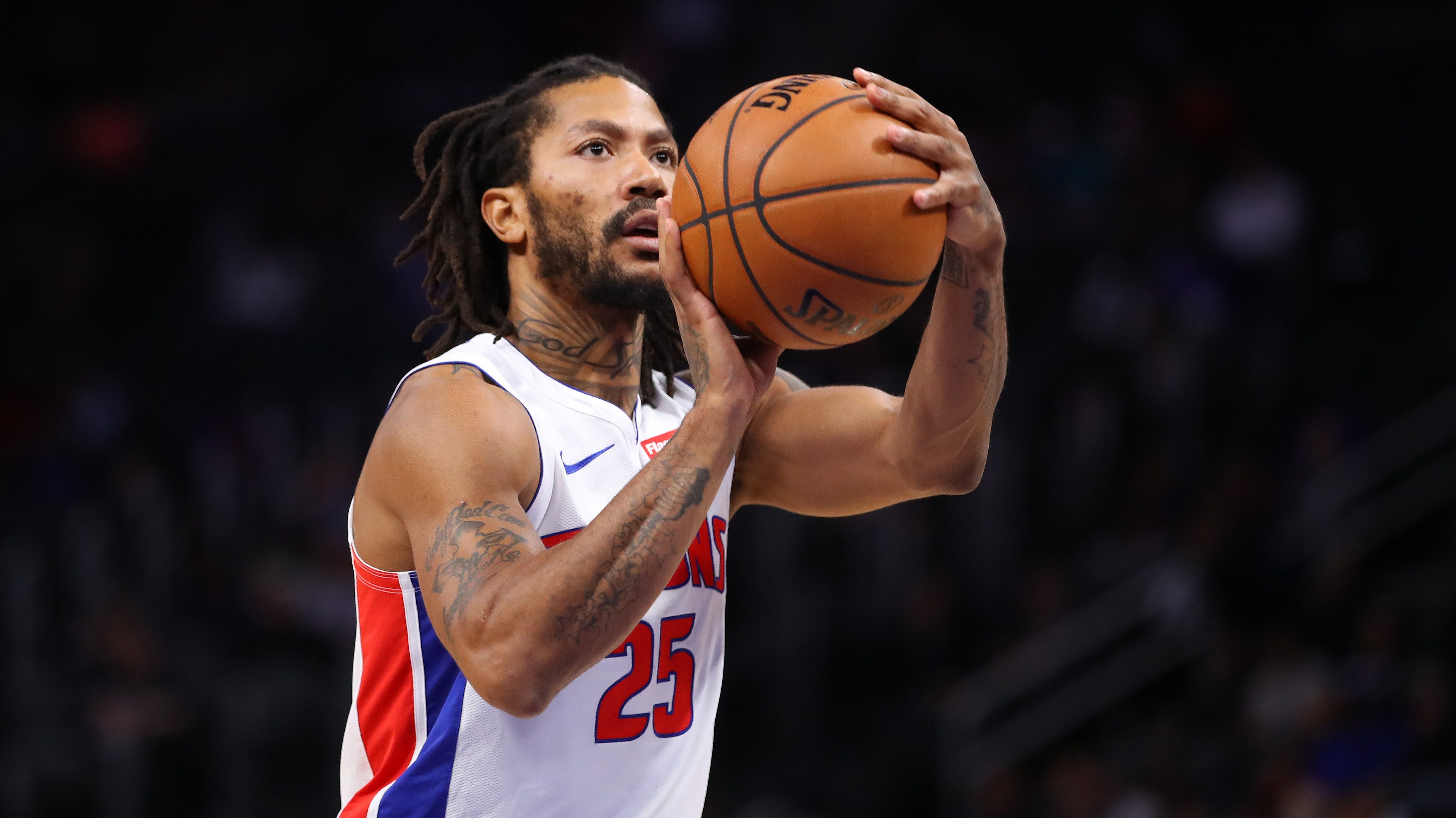 Derrick Rose Pistons Roster Starting Lineup