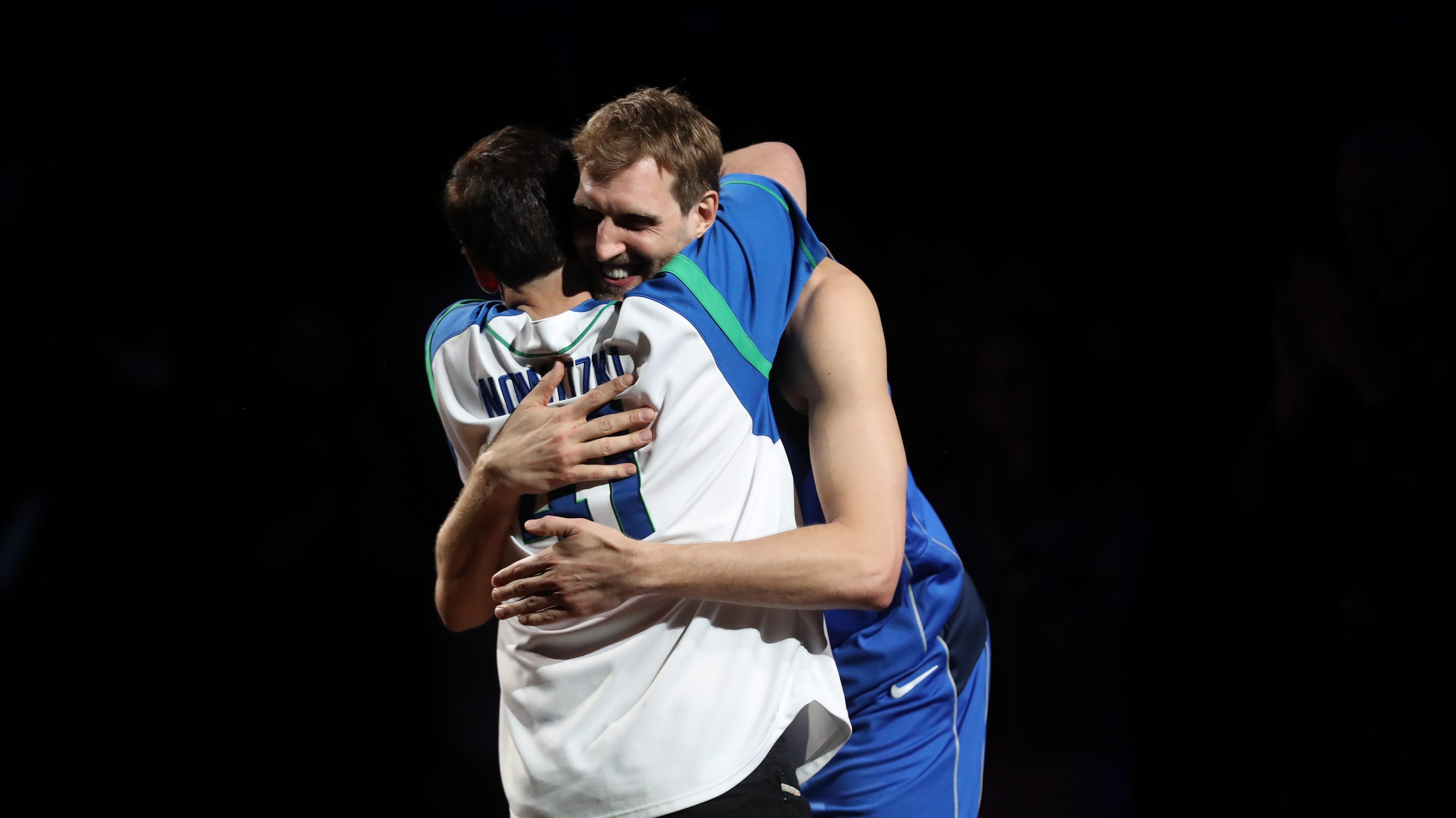 Dirk Nowitzki and Mark Cuban