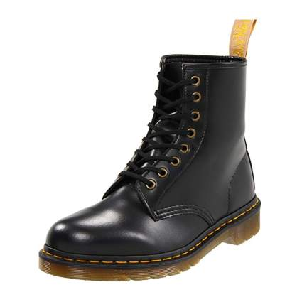 Dr. Martens vegan smooth black combat boots