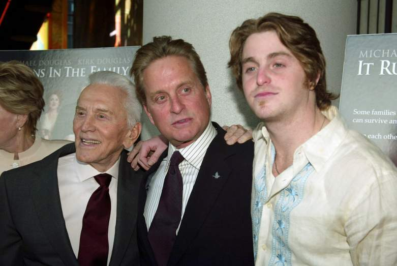 Michael Douglas with Cameron Douglas