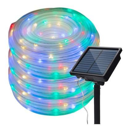Rainbow colored LED rope lights