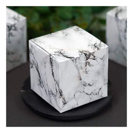 White marble cube