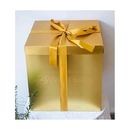 extra large gold square gift box