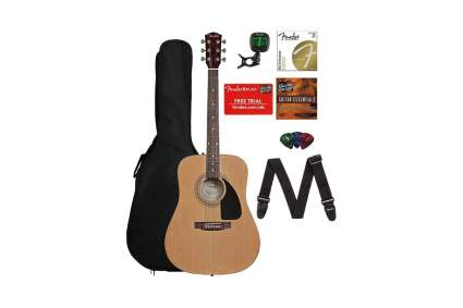fender fa-115 acoustic guitar for beginners