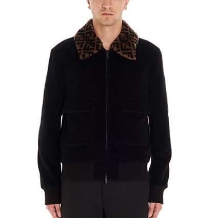 black fendi jacket