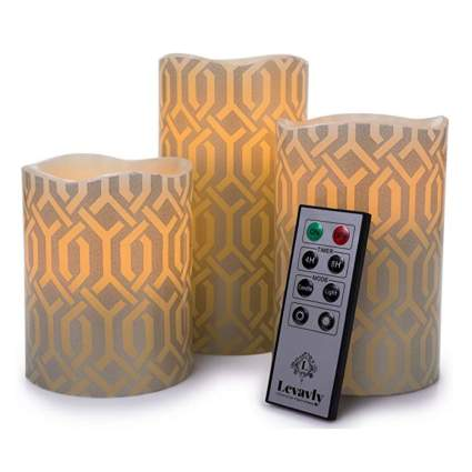 flameless candle gift set