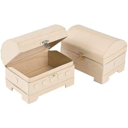 Paper treasure chests