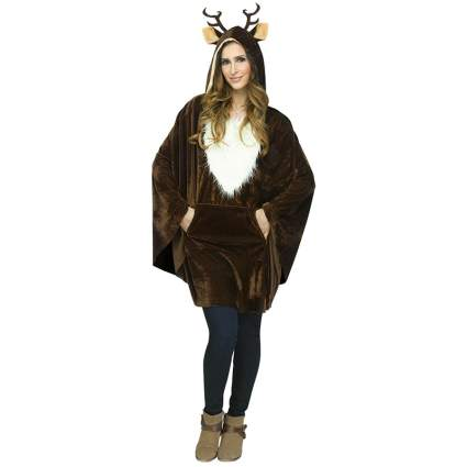 Fun World Reindeer Poncho Adult Costume