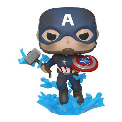 Funko Pop! Marvel: Avengers Endgame - Captain America with Broken Shield & Mjolnir