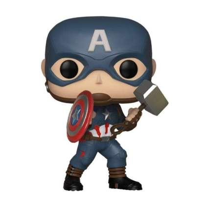 Funko Pop! Marvel: Avengers Endgame - Collector Corps Captain America w/Mjolnir
