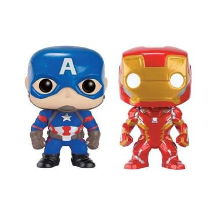 Funko Pop! Marvel: Captain America Civil War - Captain America & Iron Man 2-Pack