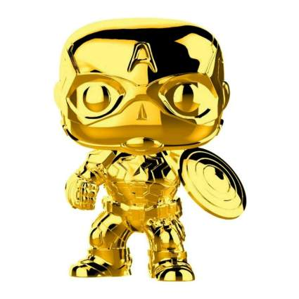Funko Pop! Marvel: Marvel Studios 10 - Captain America (Gold Chrome)