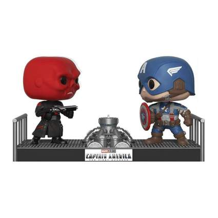 Funko Pop! Movie Moments: Marvel- Captain America and Red Skull Collectible Figure
