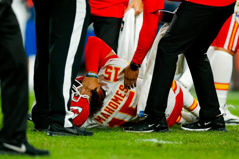 Chiefs QB Patrick Mahomes suffers a serious knee injury during the second quarter of Thursday's game with the Broncos.