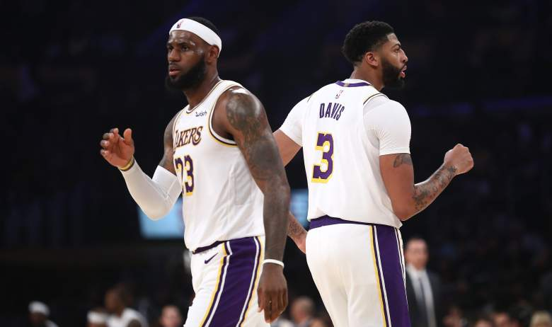 LeBron James and Anthony Davis, Lakers
