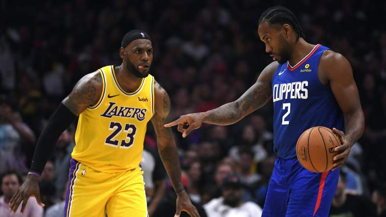 Kawhi Leonard, LeBron James, Lakers, Clippers