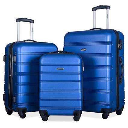 blue hardside spinner luggage set