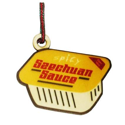 Engraved dipping sauce ornament