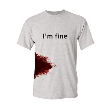 feelin good tees im fine t-shirt