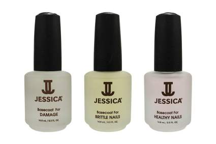 Three bottles of Jessica base coat
