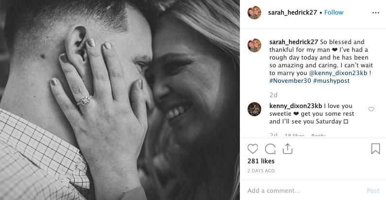 Kenny Dixon girlfriend Sarah Hedrick