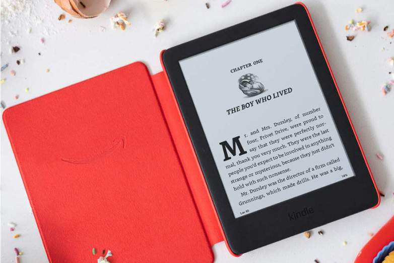 kindle kids edition red open