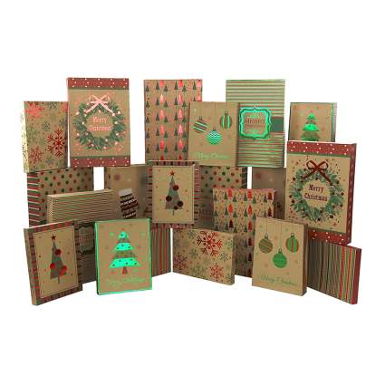 natural kraft christmas boxes