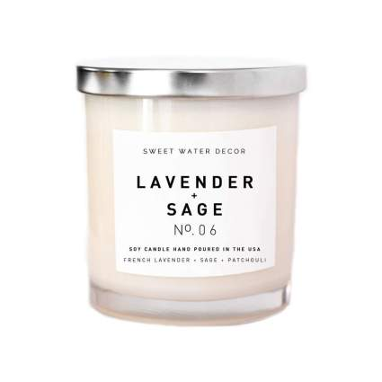 Lavender and Sage Natural Soy Wax Candle