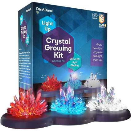 light up crystal growing set