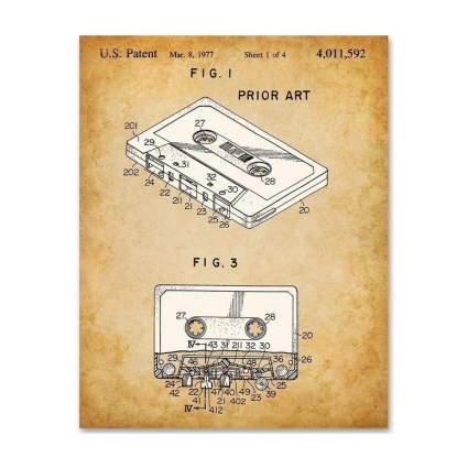lone star art cassette patent print