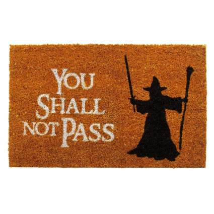 Lord of the Rings You Shall Not Pass Welcome Mat