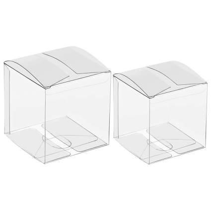 Clear cube boxes