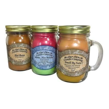 mason jar scented candle set