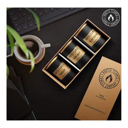 men's candle gift set