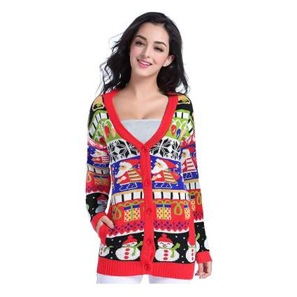 merry knit chistmas cardigan
