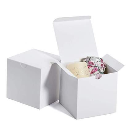 White cube gift box